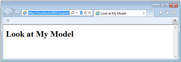 Embed an ACP model in a Web page using an iFrame or no frame