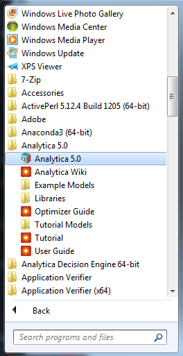 File:Launch Ana5 0 from Start Menu png - Analytica Wiki